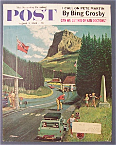 Saturday Evening Post Cover By Prins-aug 5, 1961-canada