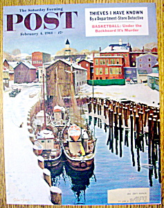 Saturday Evening Post Cover By Clymer-february 4, 1961