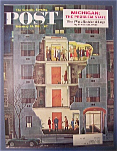Saturday Evening Post Cover By Prins - Feb 25, 1961