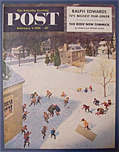 Saturday Evening Post Cover By Clymer - Feb 4, 1956