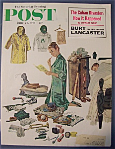 Saturday Evening Post Cover By Prins - June 24, 1961