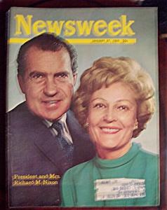 Newsweek Magazine -Jan 27, 1969- President & Mrs. Nixon (Image1)