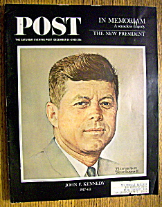 Saturday Evening Post Magazine-dec 14, 1963-kennedy