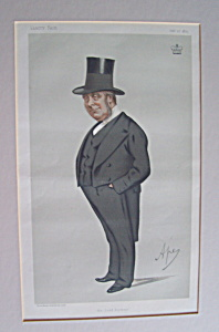 Vanity Fair Ape Print Lord Redesdale February 27, 1875