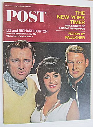 Saturday Evening Post October 9, 1965 Liz & Richard  (Image1)
