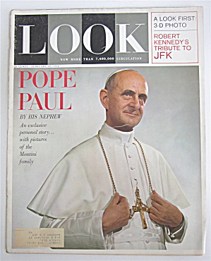 Look Magazine February 25, 1964 Pope Paul By His Nephew