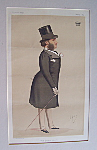 Vanity Fair Print Lord Harwicke May 9, 1874 By Ape