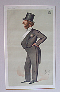 Lord Barrington Vanity Fair Print By Ape Sept 11, 1875