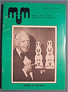 Magic Unity Might Mum Magician Magazine - Sept 1977