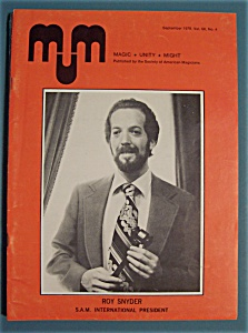 Magic Unity Might Mum Magician Magazine - Sept 1978