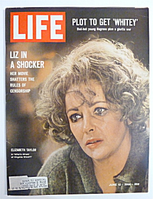 Life Magazine-june 10, 1966-liz In A Shocker
