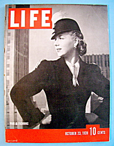 Life Magazine - October 23, 1939 - War & Fashions