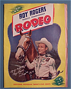 Roy Rogers Rodeo Souvenir Program - 1946