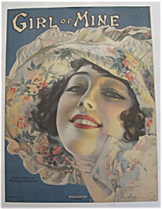 Sheet Music Of 1919 Girl Of Mine