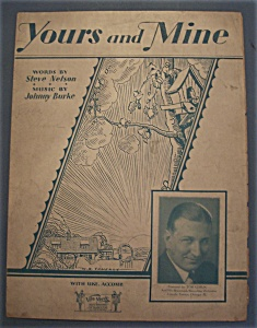 Sheet Music Of 1930 Yours And Mine