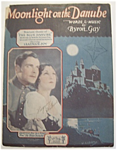 Sheet Music Of 1927 Moonlight On The Danube