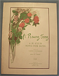 Sheet Music Of 1927 A Plowing Song