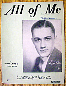 Sheet Music For 1931 All Of Me