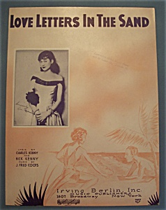 Sheet Music Of 1931 Love Letters In The Sand