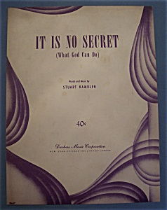 Sheet Music Of 1950 It Is No Secret