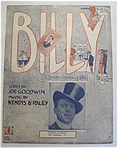 Sheet Music Of 1911 Billy