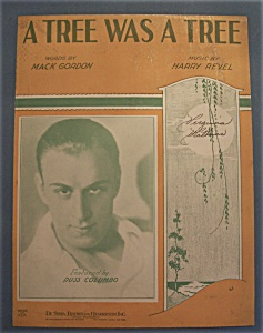 Sheet Music Of 1933 A Tree Was A Tree