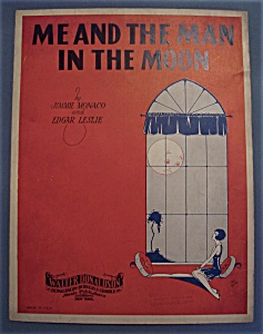 Sheet Music Of 1928 Me And The Man In The Moon