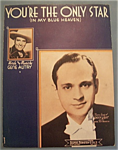 Sheet Music Of 1938 You're The Only Star
