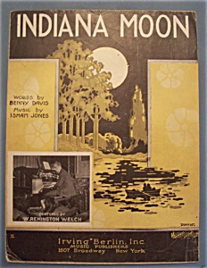 Sheet Music Of 1923 Indiana Moon