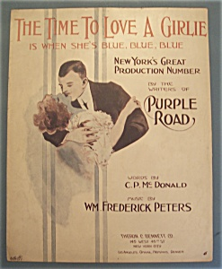 Sheet Music Of 1913 The Time To Love A Girlie