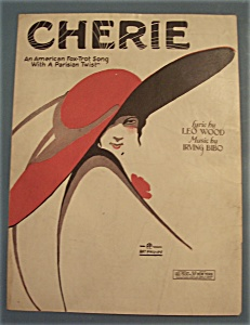 Sheet Music Of 1921 Cherie