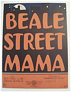 Sheet Music Of 1923 Beale Street Mama