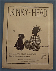 Sheet Music Of 1924 Kinky - Head