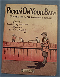 Sheet Music of 1925 Pickin' On Your Baby (Image1)