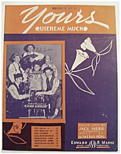 Sheet Music Of 1937 Yours Quiereme Mucho
