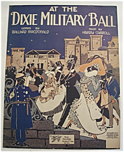 Sheet Music Of 1918 At The Dixie Military Ball