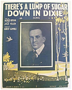 Sheet Music/1918 There's A Lump Of Sugar Down In Dixie