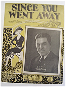 Sheet Music Of 1928 Since You Went Away