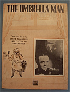 Sheet Music Of 1938 The Umbrella Man (Gary Nottingham)