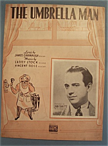Sheet Music Of 1938 The Umbrella Man (Jan Savitt)