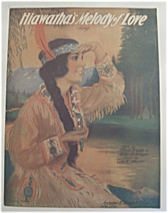 Sheet Music Of 1920 Hiawatha's Melody Of Love