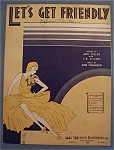Sheet Music Of 1931 Let's Get Friendly