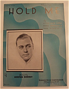 Sheet Music Of 1933 Hold Me
