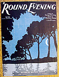 Sheet Music For 1928 Round Evening