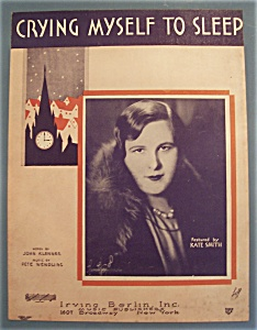 Sheet Music Of 1930 Crying Myself To Sleep
