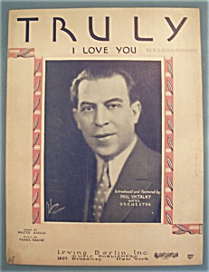 Sheet Music Of 1930 Truly I Love You