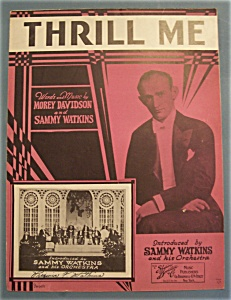 Sheet Music Of 1931 Thrill Me