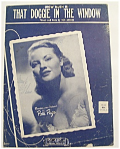 Sheet Music For 1952 That Doggie In The Window