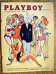 Playboy Magazine-August 1961-Karen Thompson (Image1)