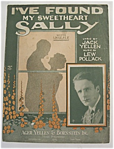 Sheet Music For 1925 I've Found My Sweetheart Sally